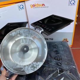 Bếp điện từ đơn cảm ứng Goldsun Gl-T21 công suất 1400W kèm nồi lẩu - Hàng chính hãng, bảo hành 12 tháng