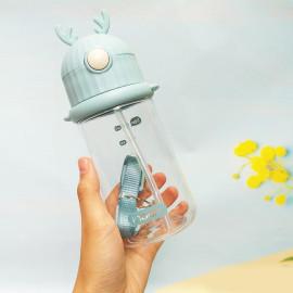 Bình nước trẻ em có ống mút Inochi Goki Rudy 450ml - Hàng xuất Nhật