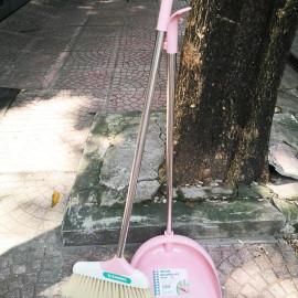 Bộ chổi và xẻng quét hót rác Inochi CK02 thân Inox hàng xuất Nhật