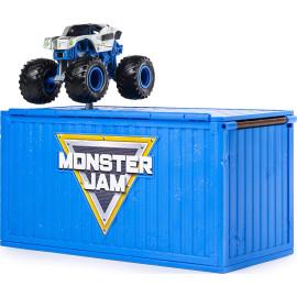 Bộ xe tải mô hình Monster Jam True Metal Alien Invasion tỷ lệ 1:64 nhào lộn vượt Container
