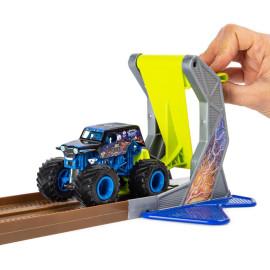 Bộ xe tải mô hình Monster Jam True Metal Son-uva Digga tỷ lệ 1:64 vượt đường dốc Champ Ramp