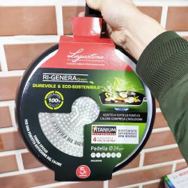 Chảo chống dính Lagostina Ri-Genera Green Titanium đường kính miệng 24cm - Made in France
