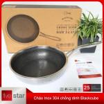 Chảo sâu lòng chống dính Inox 304 Fivestar Blackcube 24cm 3 lớp đáy liền FPC24002