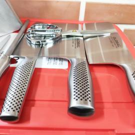 Bộ dao, kéo và thanh liếc 7 món nhà bếp cao cấp Global Yoshikin Nhật Bản