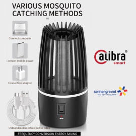 Đèn ngủ bắt muỗi tích điện thông minh Calibra BG-001 sạc USB - Hàng chính hãng, bảo hành 12 tháng