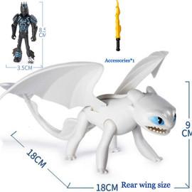 Đồ chơi Mô hình phim Bí quyết luyện rồng Dreamworks Dragon - Lightfury và Hiccup