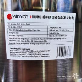 Bộ 2 nồi Inox cao cấp Elmich 2353367 vung kính đáy từ - Hàng chính hãng
