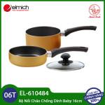 Bộ nồi chảo chống dính 16cm Elmich Smartcook Baby Star EL-610484 KM dùng bếp từ