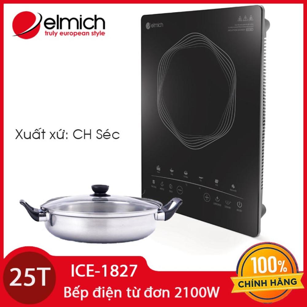 Bếp điện từ Elmich ICE-1827 công suất 2100W xuất xứ CH Séc tặng kèm Nồi lẩu Inox 26cm