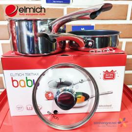 Bộ nồi và chảo Inox 304 chống dính thân đúc đáy từ liền Elmich Trimax Baby size 16cm EDA-035
