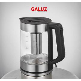 Ấm điện siêu tốc thủy tinh kiêm bình pha trà Galuz GK-01 dung tích 1.8 lít - Hàng chính hãng, bảo hành 12 tháng