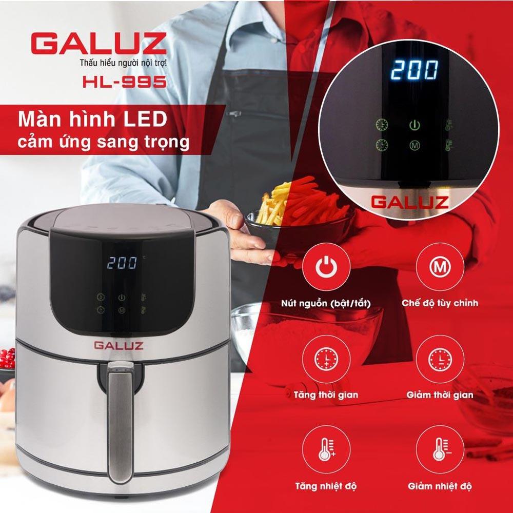 Nồi chiên không dầu điện tử Galuz HL-995 dung tích 5.2 Lít - Bảo hành 18 tháng chính hãng