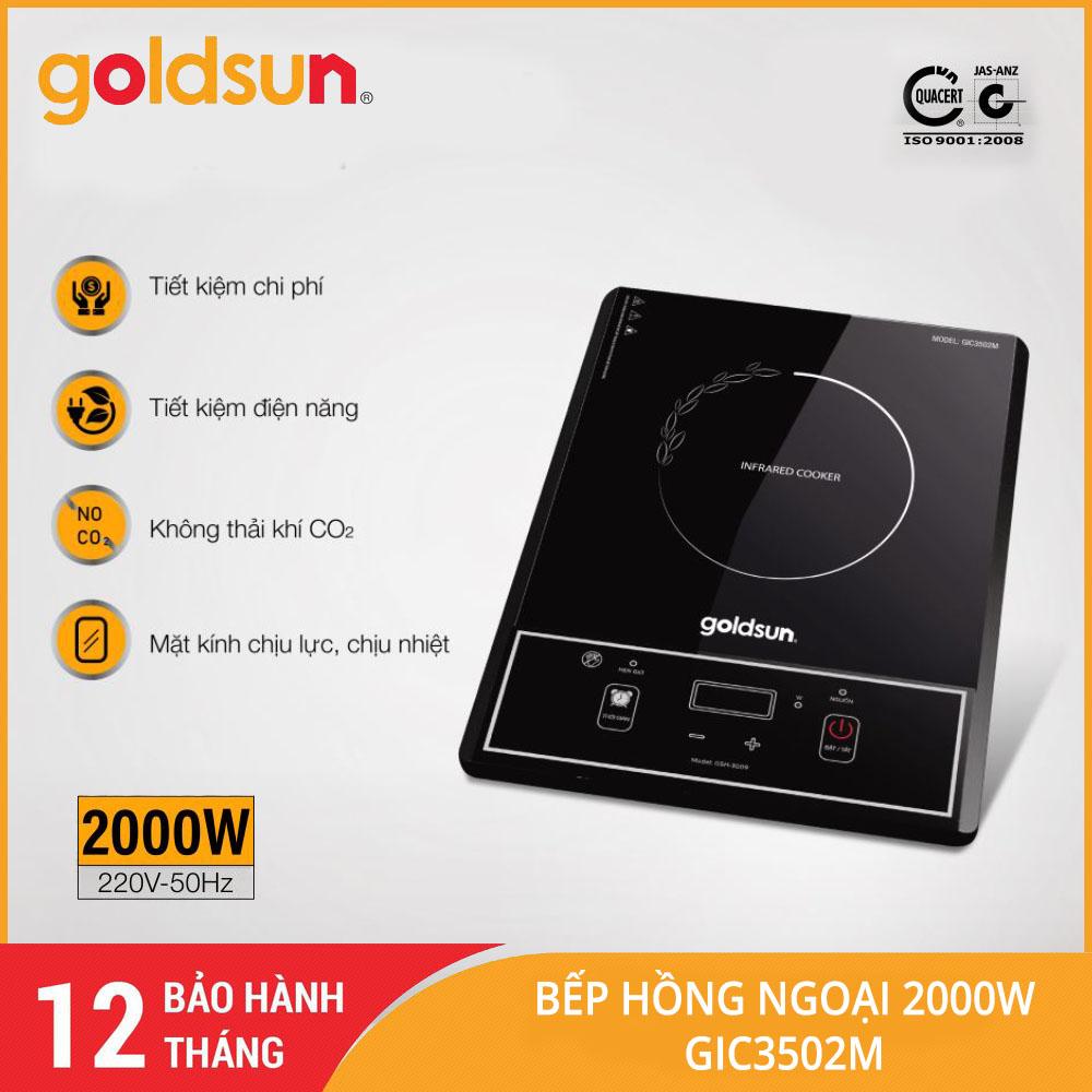 Bếp hồng ngoại Goldsun GIC3502M công suất 2000W - Hàng chính hãng, bảo hành 12 tháng