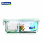 Hộp thủy tinh đựng thực phẩm 2 ngăn Glasslock 1000ml - Made in Korea