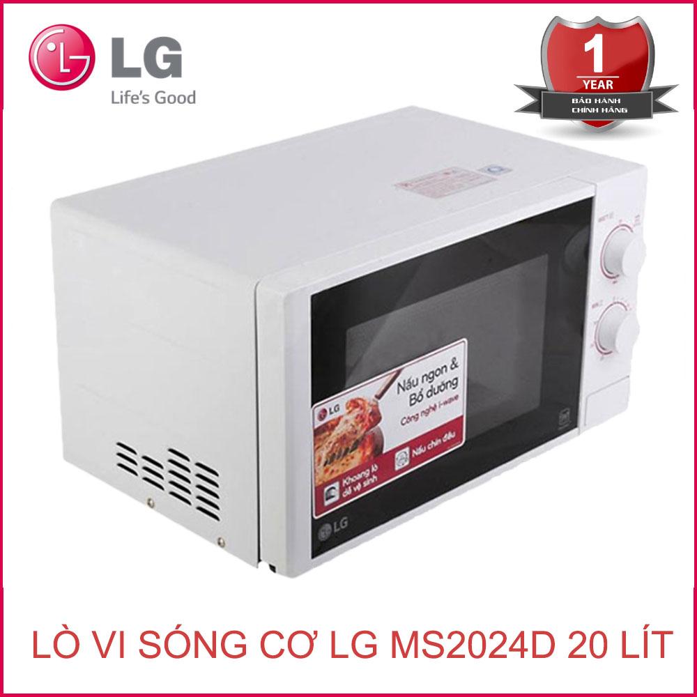 Lò vi sóng cơ LG MS2024D dung tích 20 lít - Hàng chính hãng, bảo hành 12  tháng - 1,369,000