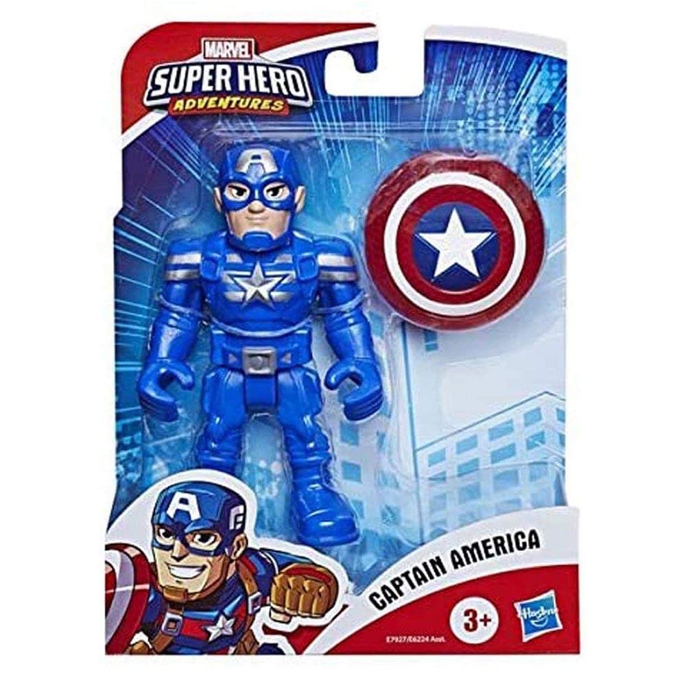 Đồ chơi mô hình Playskool Heroes Marvel Super Hero 12cm - Captain America