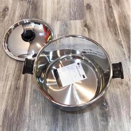 Nồi luộc gà 3 đáy Inox 304 Fivestar Plus 30cm quai nhựa nắp inox - Hàng chính hãng, bảo hành 12 tháng