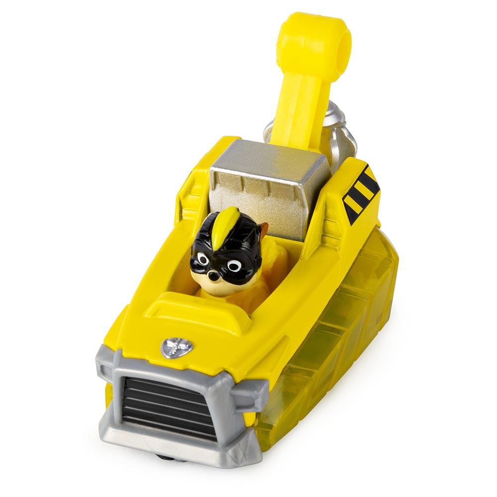 Đồ chơi Xe công trình chó cứu hộ Paw Patrol True Metal tỷ lệ 1:55 - Rubble Charged Up (No Box)