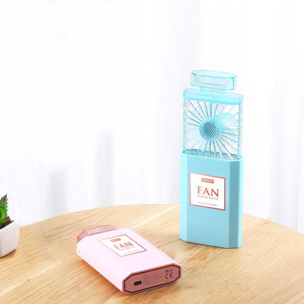 Quạt mini cầm tay Joyroom CJR-CY277 tích điện kiểu dáng lọ nước hoa, tỏa hướng thơm - Hàng chính hãng