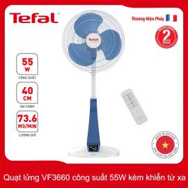 Quạt lửng Tefal VF3660-71 công suất 55W kèm điều khiển từ xa - Hàng chính hãng, bảo hành 24 tháng