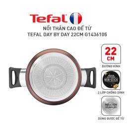 Nồi chống dính thân cao Tefal Day By Day G1436105 đương kính 22cm dùng bếp từ