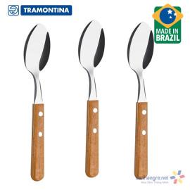 Bộ 3 thìa ăn Inox cán gỗ Tramontina Dynamic 22303/300 xuất xứ Brazil
