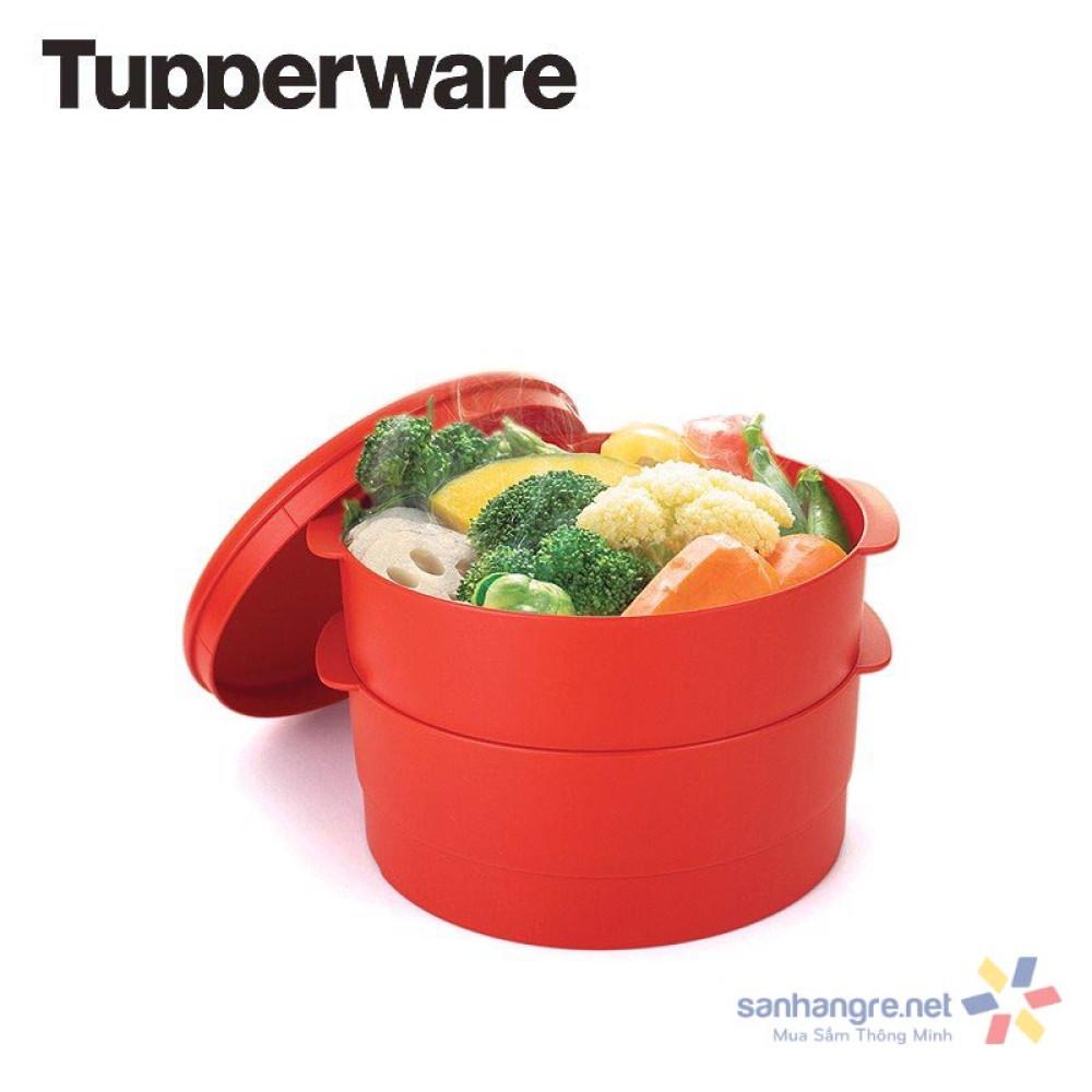 Xửng hấp Tupperware Steam It 2 tầng 20cm xuất xứ USA