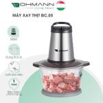 Máy xay thịt đa năng lưỡi dao kép cối thuỷ tinh 2L Bohmann B.Cook BC-05 hàng chính hãng, bảo hành 12 tháng