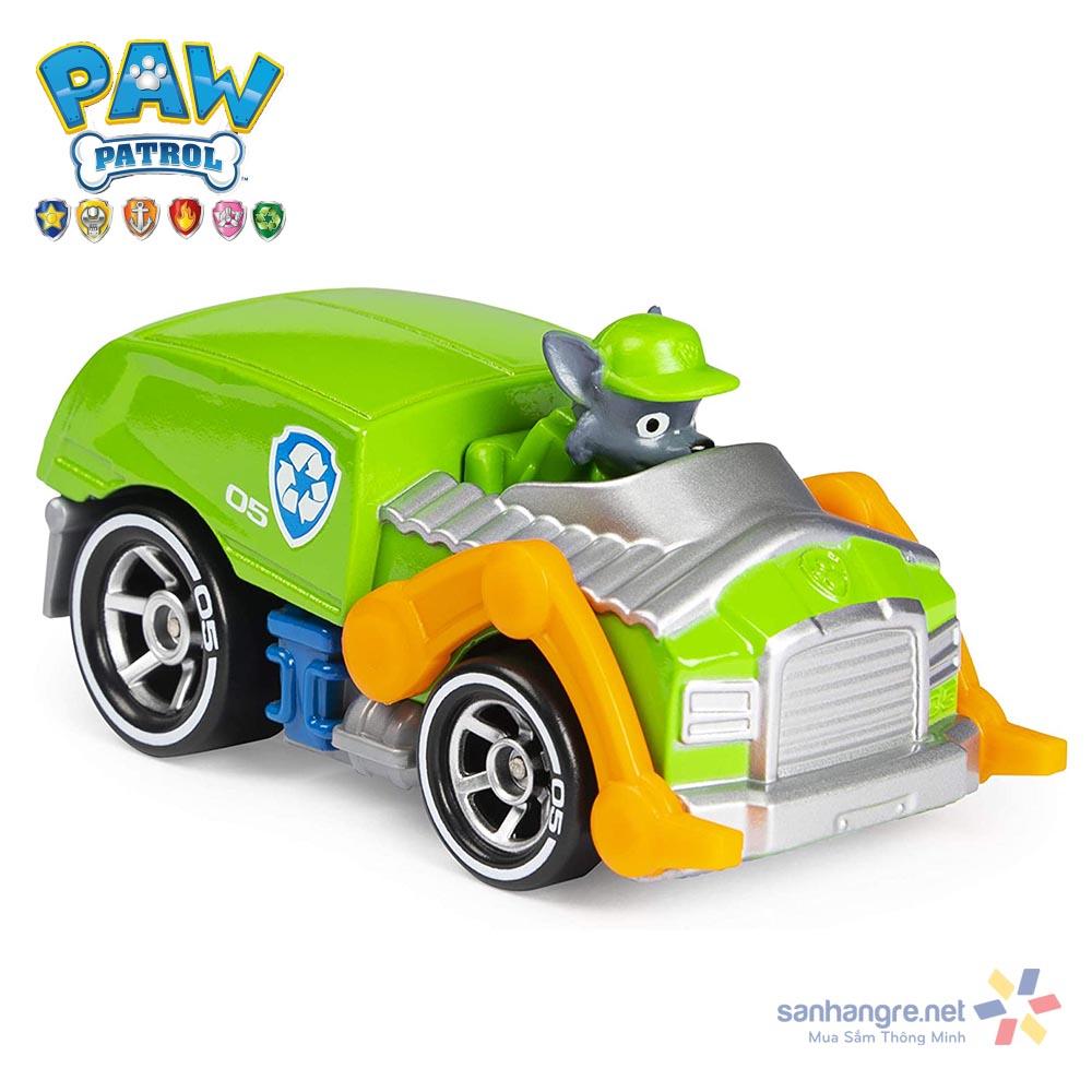 Đồ chơi mô hình Xe cứu hộ Paw Patrol True Metal Ready Race tỷ lệ 1:55 - Rocky sáng tạo (No Box)