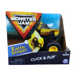 Đồ chơi Chiến xe rung chuyển Trái Đất Monster Jam Click&Flip ấn bật và nhào lộn tỷ lệ 1:43 - Earth Shaker
