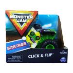 Đồ chơi chiến xe thách thức Monster Jam Click&Flip ấn bật và nhào lộn tỷ lệ 1:43 - Grave Digger