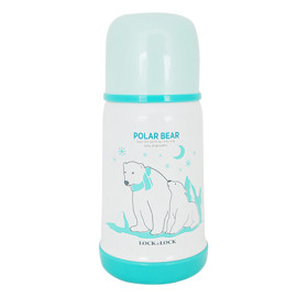 Bình Giữ Nhiệt Cho Bé Lock&Lock Kids Hot&Cool Polar Fur Seal LHC1400-P (310ml)