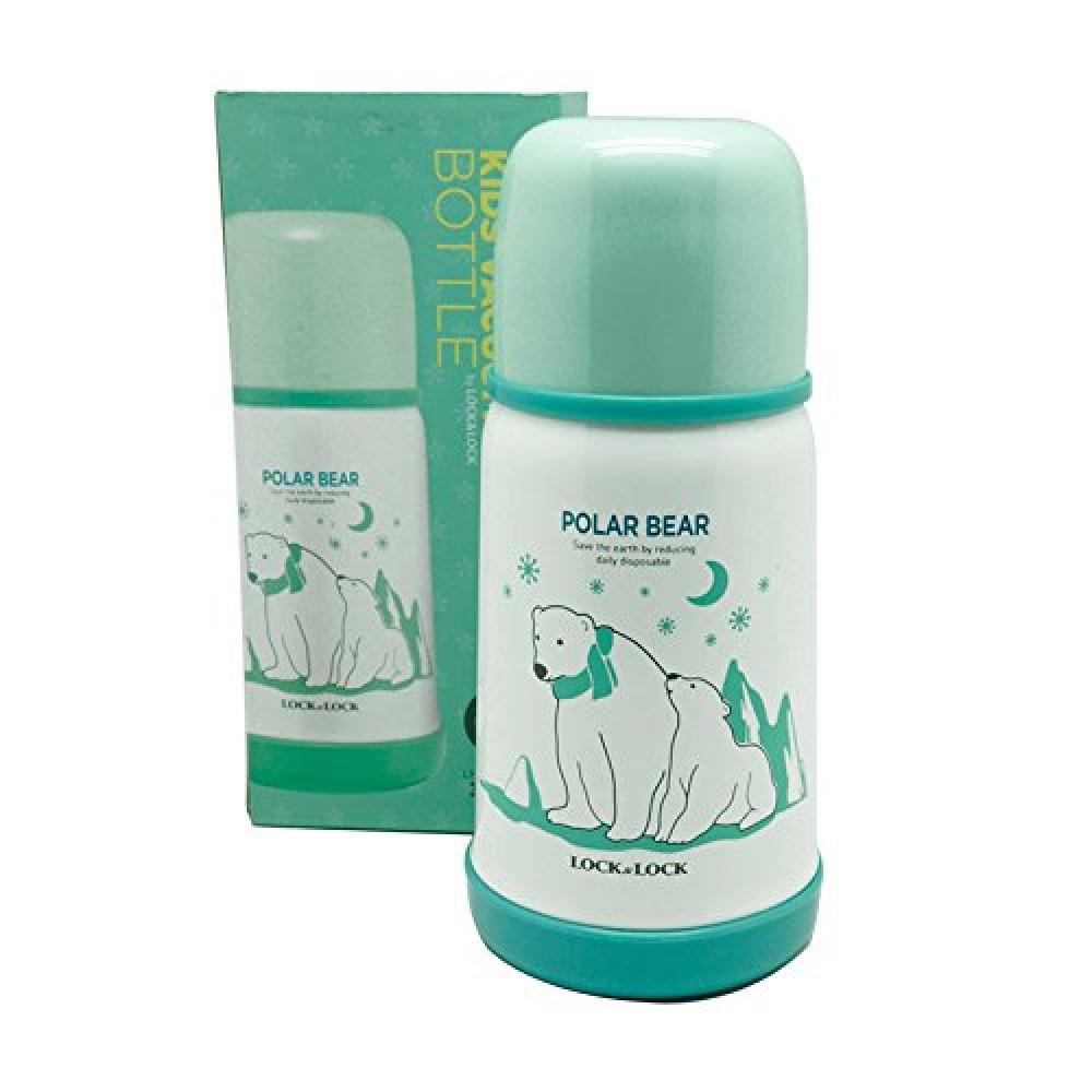 Bình Giữ Nhiệt Cho Bé Lock&Lock Kids Hot&Cool Polar Bear LHC1400-G (310ml)