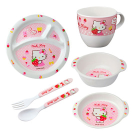 Bộ đồ ăn 6 món cho bé Lock&Lock Hello Kitty LKT461S6 Hàn Quốc