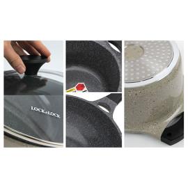 Bộ nồi chảo nhôm đúc Lock&lock Stone LCA6202S3 dùng bếp từ