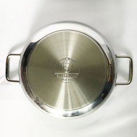 Nồi Lẩu 2 quai Inox 430 Fivestar 26cm nắp kính hàng chính hãng, bảo hành 5 năm