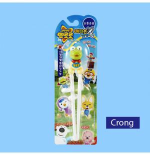 Đũa tập ăn cho bé Pororo hoạt hình 3D chú Khủng Long Crong hàng Hàn Quốc