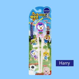 Đũa tập ăn cho bé Pororo hoạt hình 3D chim sẻ hồng Harry hàng Hàn Quốc