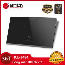 Bếp điện từ đôi cao cấp Elmich ICE-3484 Made In Tây Ban Nha nhập khẩu CH Séc, bảo hành 36 tháng, 1 đổi 1 trong 90 ngày đầu
