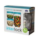 Bộ 3 hộp bảo quản Interlock - Lock&Lock - INL301S1