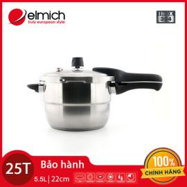 Nồi áp suất 3 đáy Inox 304 Elmich 22cm 6L EL3371 dùng bếp từ, bảo hàng 25 tháng