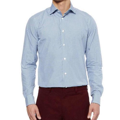 Áo sơ mi nam dài tay Slim Fit Zara Man hàng xuất - Caro trắng xanh