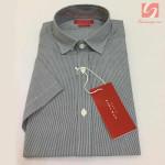 Áo sơ mi nam ngắn tay Slim Fit Zara Man hàng xuất EU - Sọc đen