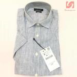 Áo sơ mi nam ngắn tay Slim Fit Zara Man hàng xuất EU - Sọc trắng xanh