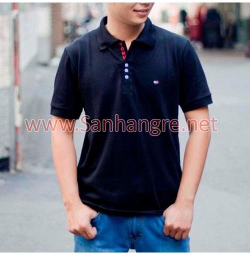 Áo thun Tommy Nam hàng Việt Nam xuất khẩu ( Xanh đen )