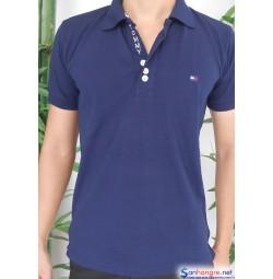 Áo thun Tommy Nam hàng Việt Nam xuất khẩu màu xanh than