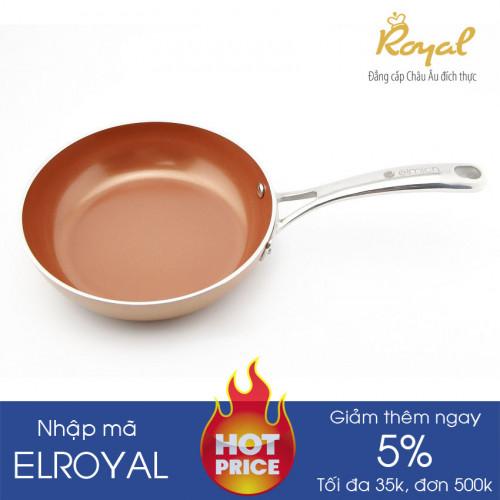 Chảo chống dính phủ sứ Elmich Royal Deluxe Plus EL-1138 20cm dùng bếp từ