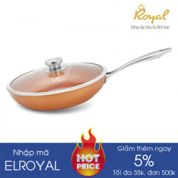Chảo chống dính vung kính 26cm Elmich Royal Premium EL-1176 dùng bếp từ