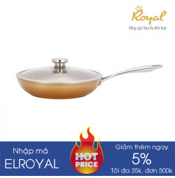Chảo chống dính vung kính 28cm Elmich Royal Premium EL-1177 dùng bếp từ