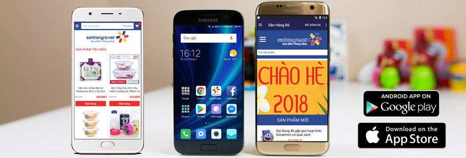 Tải APP Săn Hàng Rẻ trên Iphone và Android nhận mã giảm thêm 5%